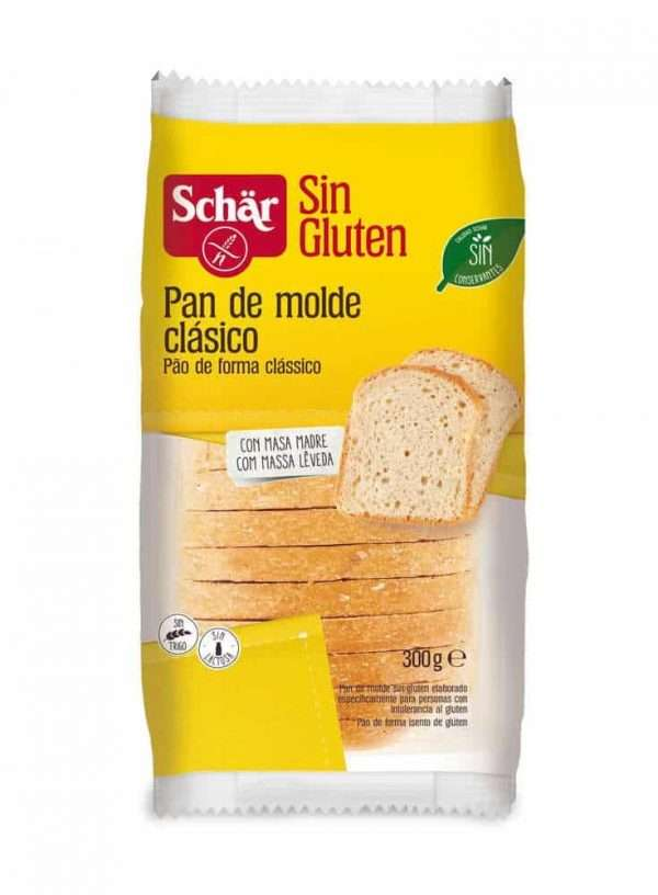 Pan de Molde Sin Gluten Clásico Schär 300 gr