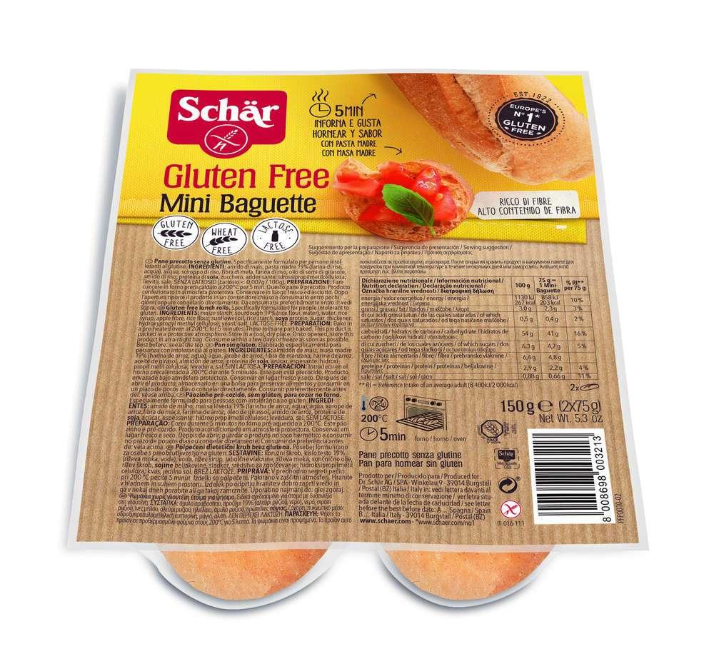 Mini Baguette Sin Gluten Schär 150 gr