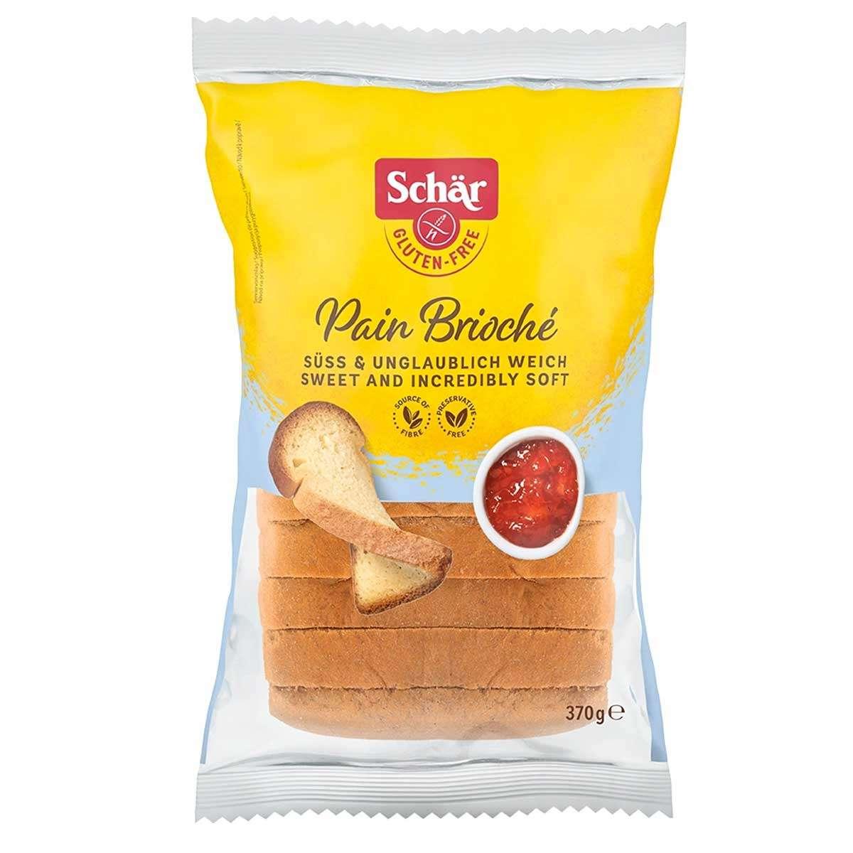 Pan Brioché Sin Gluten Schär 370 gr