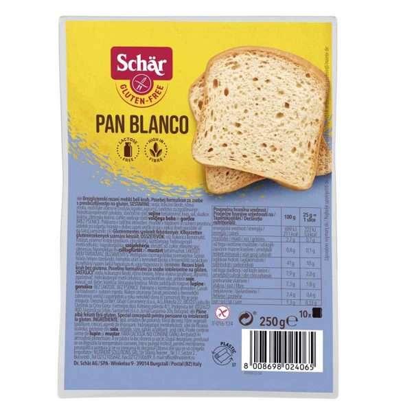 Pan Blanco Sin Gluten Schär 250 gr