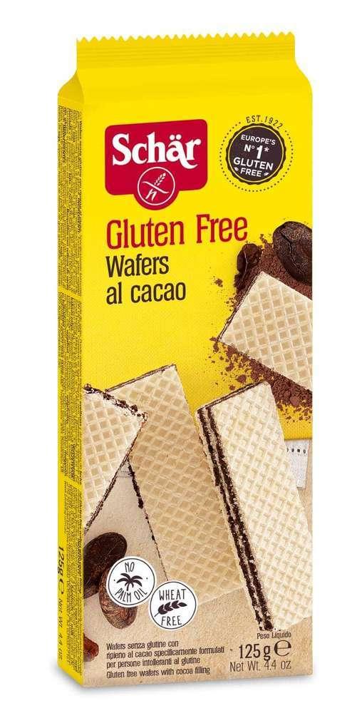 Wafers Cacao Sin Gluten Schär 125 gr
