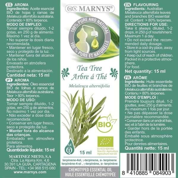 Aceite Esencial Arbol de Te BIO Marnys