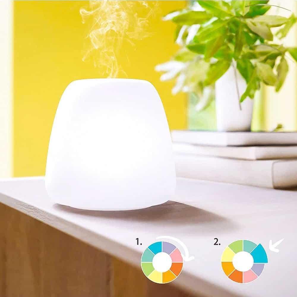 Difusor Joy Aceite Esencial Luz Multicolor Pranarom