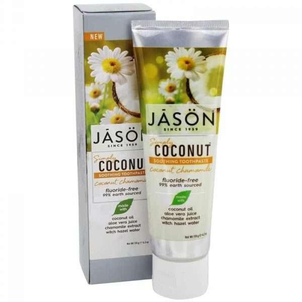 Dentrífico Calmante Coco y Camomila 119 g JASON