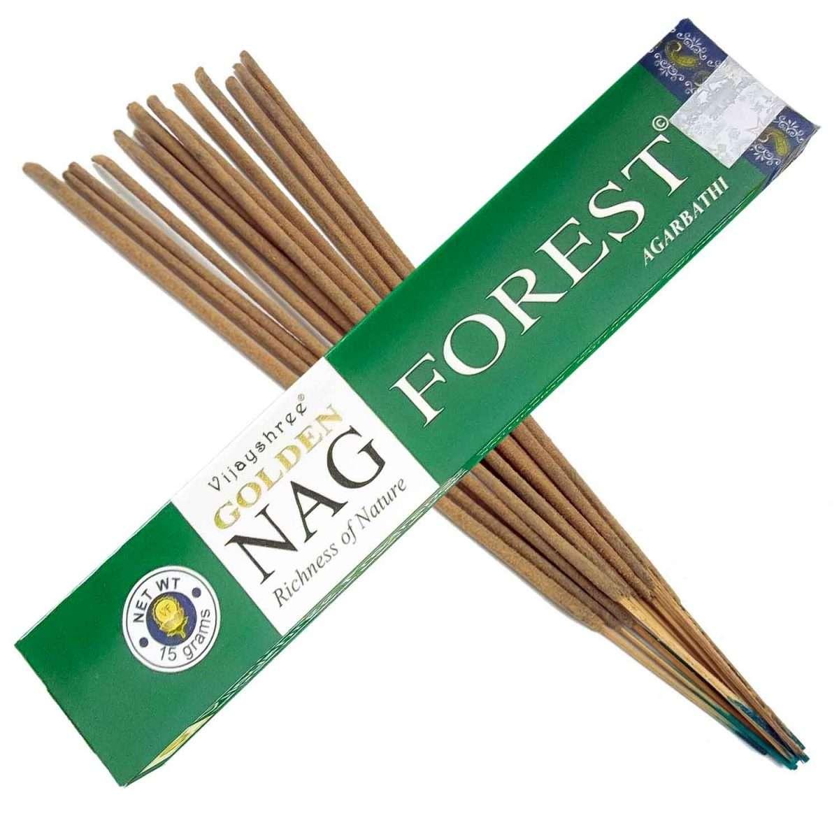 Golden Nag Forest Incienso 15g