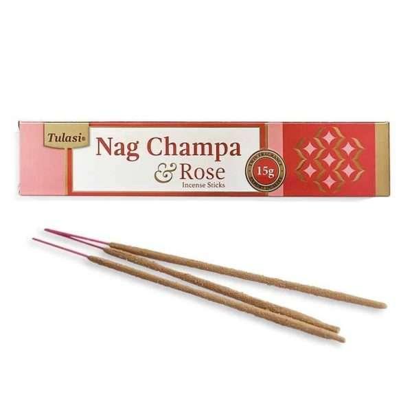 Tulasi Nag Champa Rose Incienso Natural 15g