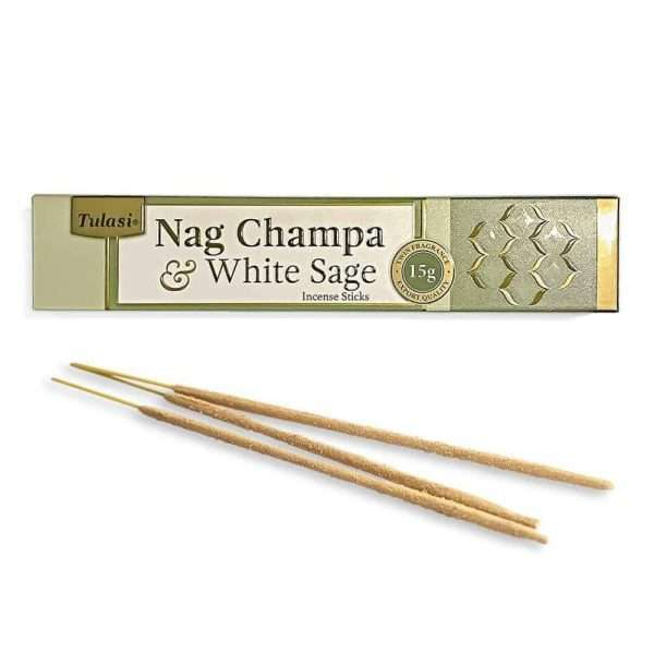 Tulasi Nag Champa & White Sage Incienso Natural 15g 12 Sticks