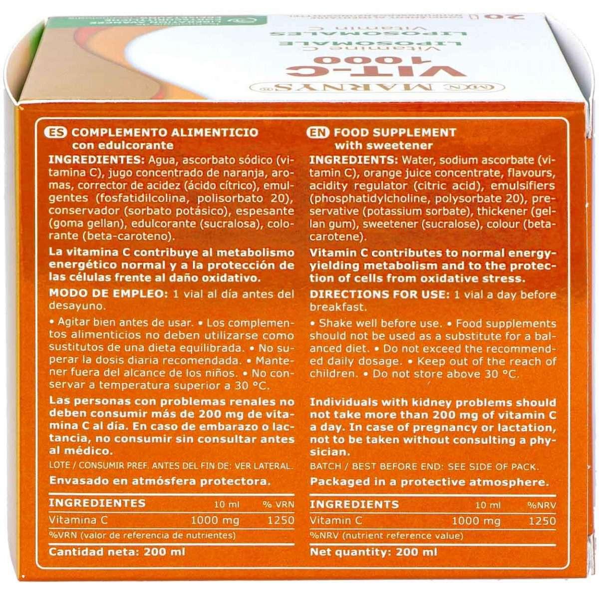 Vit-C 1000 Liposomada MARNYS 20 viales