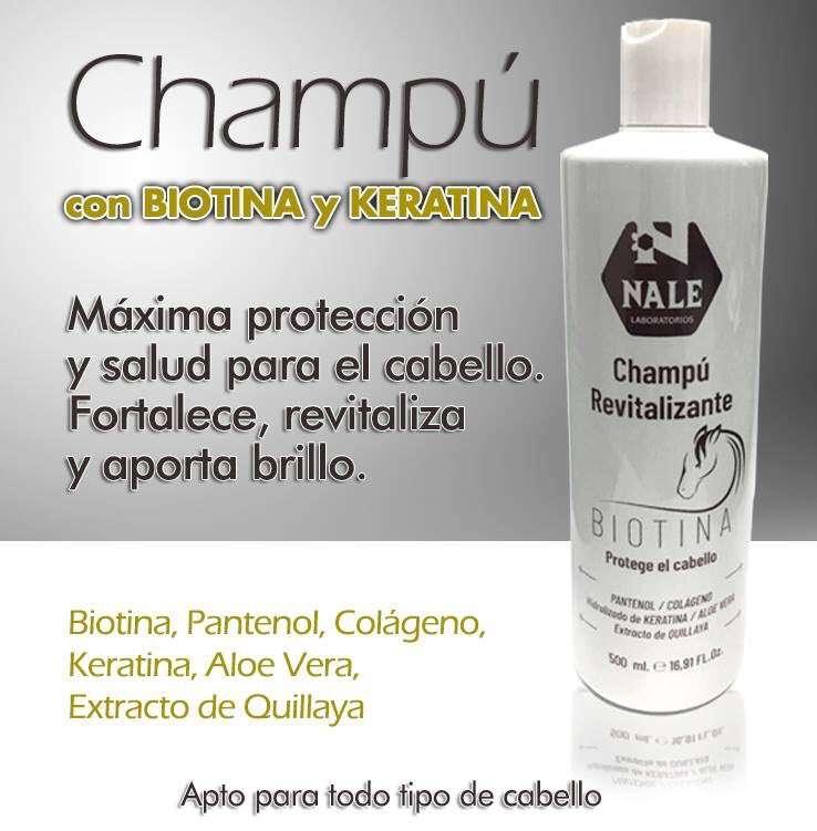 Champú Revitalizante Biotina Keratina Nale 500ml