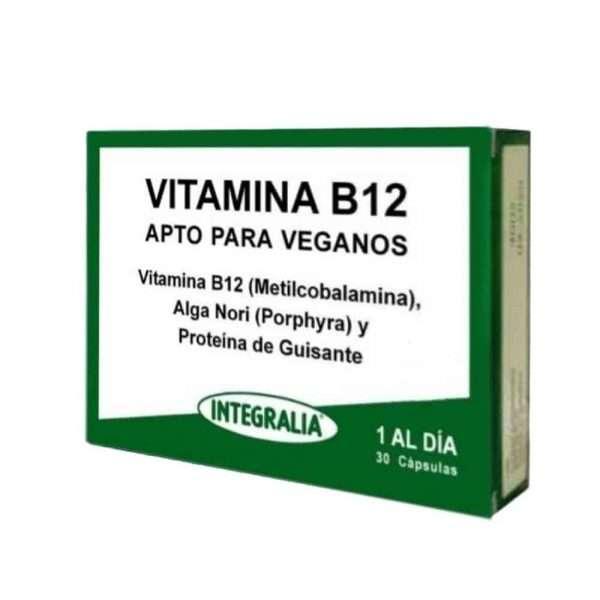 Vitamina B12 Apto Veganos Integralia 30 cápsulas
