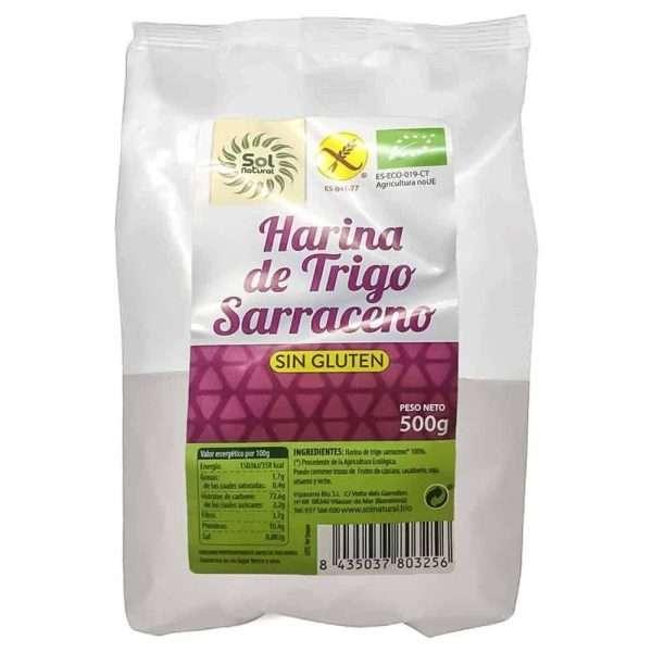 Harina Trigo Sarraceno Sin Gluten BIO Sol Natural 500 gr