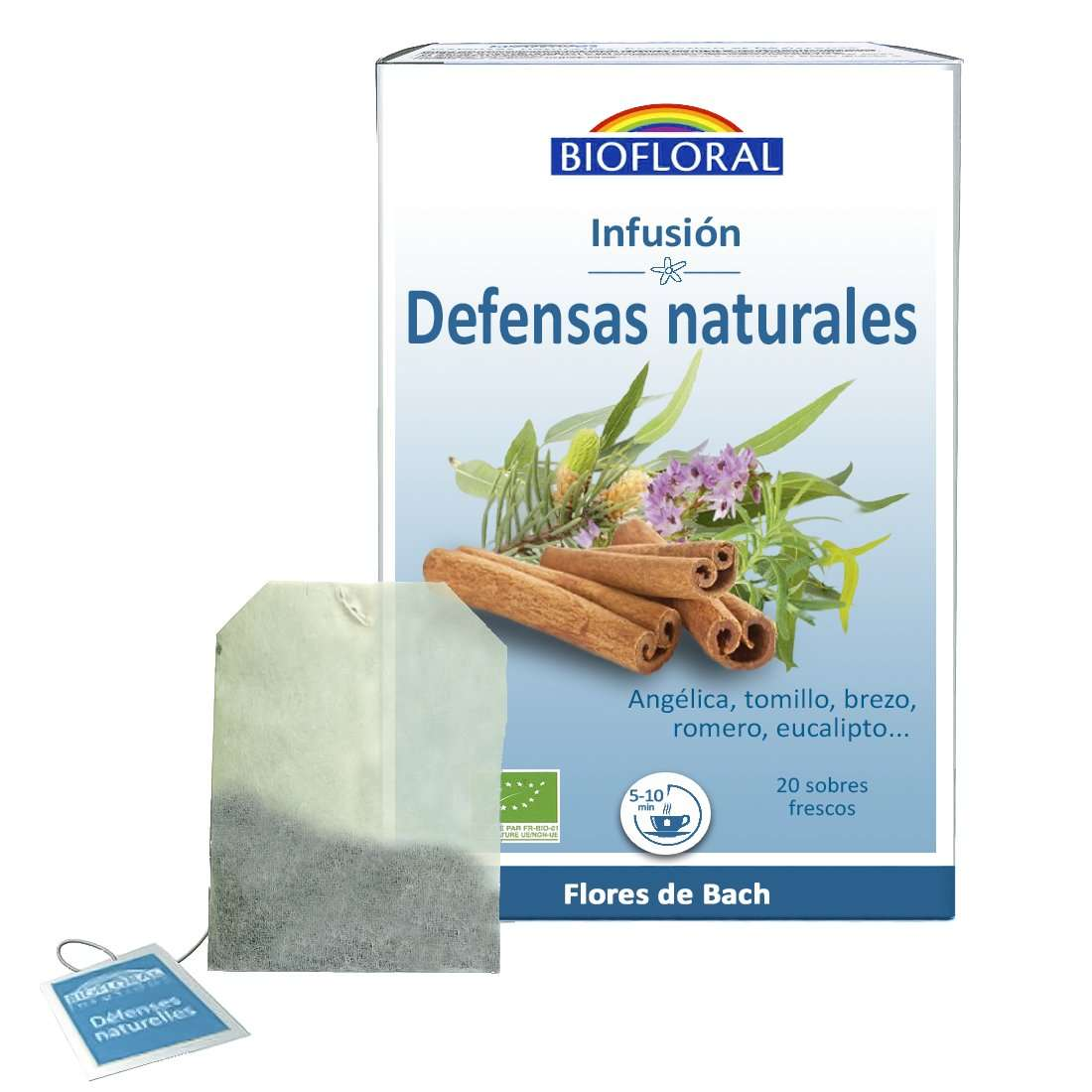 Infusión Defensas Naturales Flores de Bach Biofloral 20 sobres