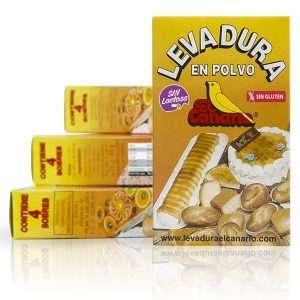 Levadura en polvo sin gluten El Canario 4x16 gr
