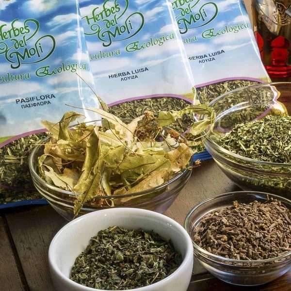 Plantas herboristería HERBES DEL MOLI 100% Agricultura Ecológica