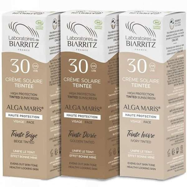 Crema Facial Solar con color Bio Alga Maris Biarritz 50ml