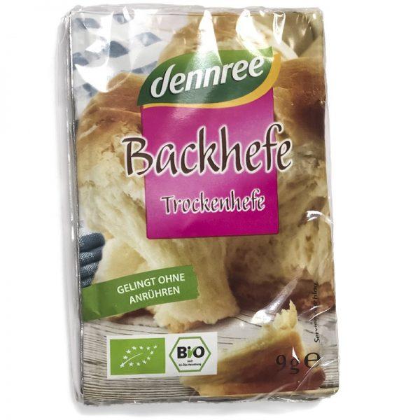 Levadura de panadería seca bio Dennree 3x9gr