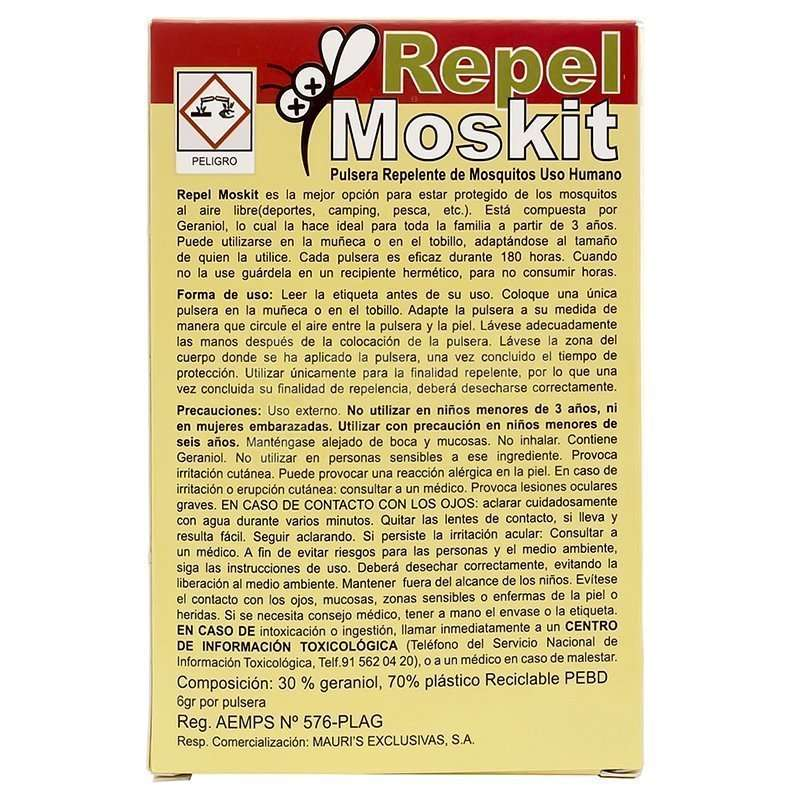 Pulsera Antimosquitos Repel Moskit Mauris 3 Pulseras