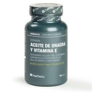 Aceite de Onagra y Vitamina E Herbora 180 perlas