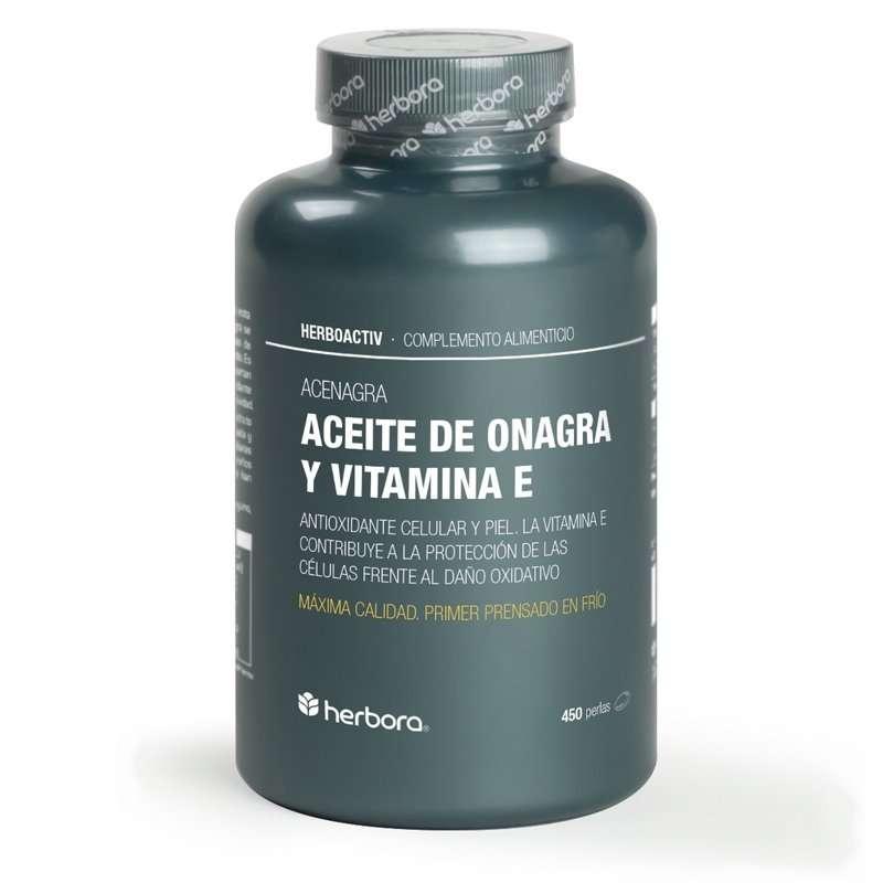 Aceite de Onagra y Vitamina E Herbora 450 perlas