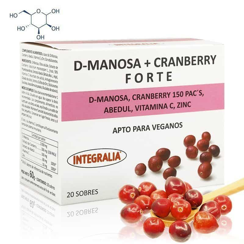 D-Manosa Cranberry Forte Integralia 20 sobres