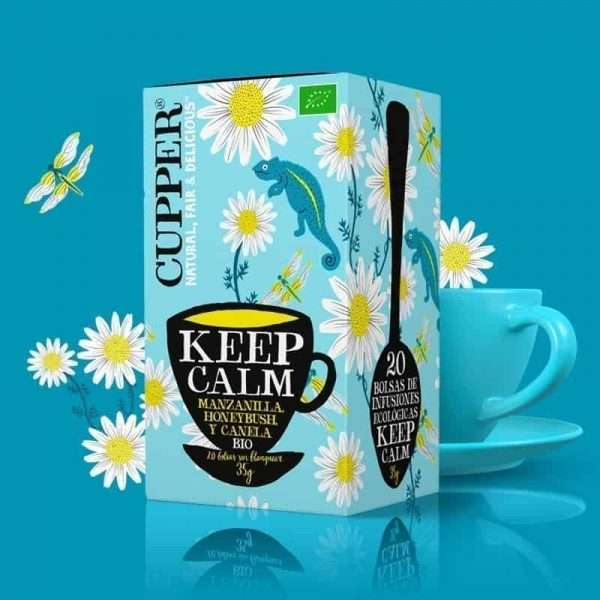 Keep calm Infusión Ecológica Cupper 20 bolsitas