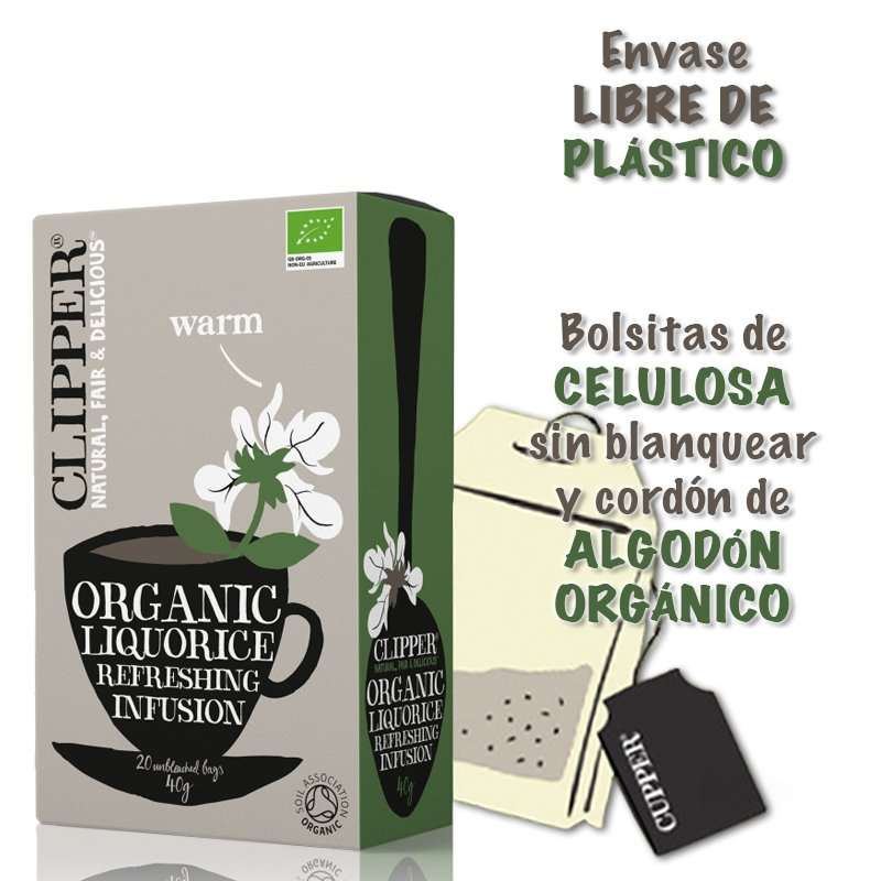 Organic Liquorice Infusión Regaliz Cupper 20 bolsitas