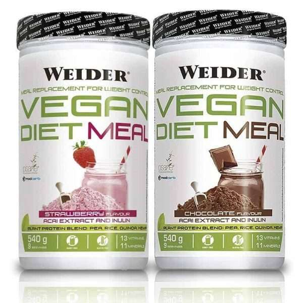Vegan Diet Meal Chocolate Fresa Weider 540g
