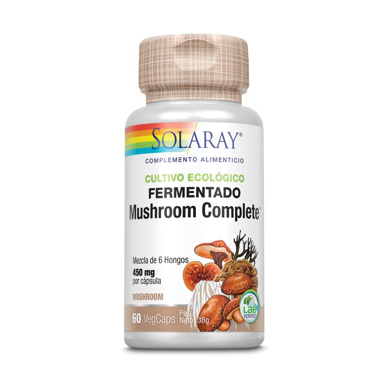 Fermented Mushroom Complete 6 Hongos Solaray 60 caps