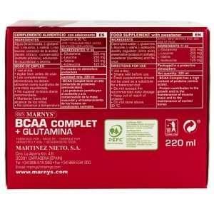 BCAA Complet Glutamina Marnys 20 viales