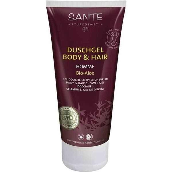 Gel de Ducha Hombre Body-Hair 2in1 Bio Aloe SANTE 200ml