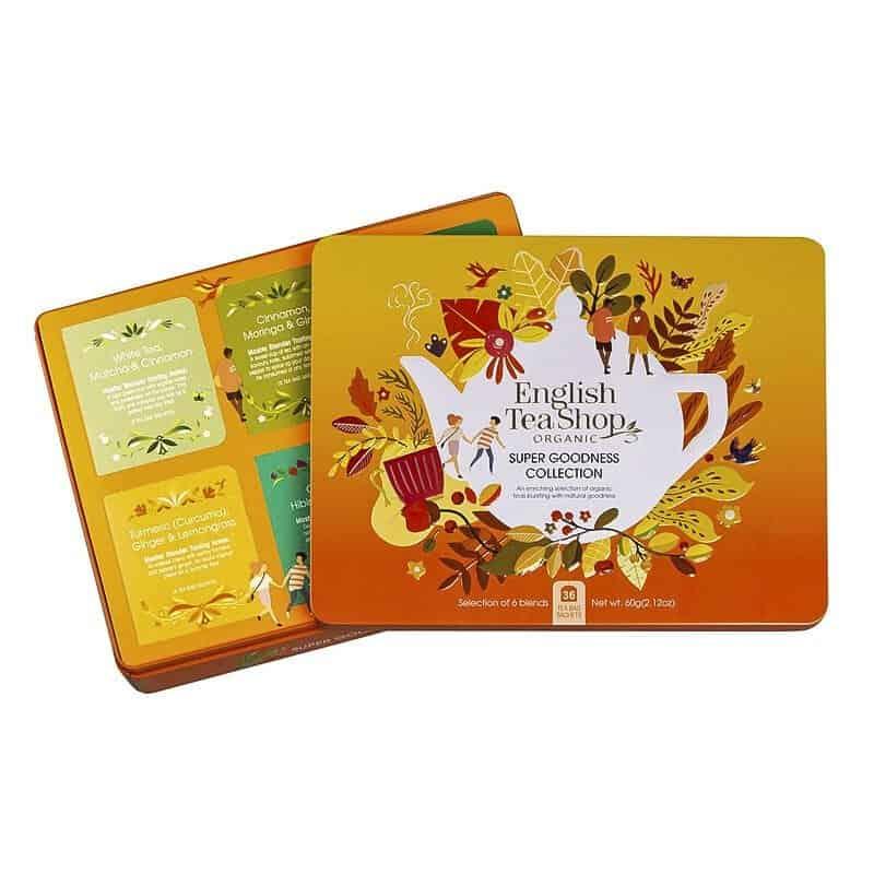 English Tea Shop Super Goodness Collection Caja Naranja de Metal