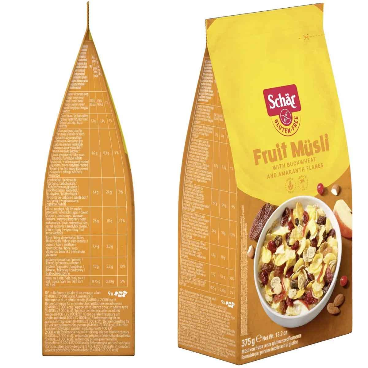 Fruit Muesli Schär 375 gr