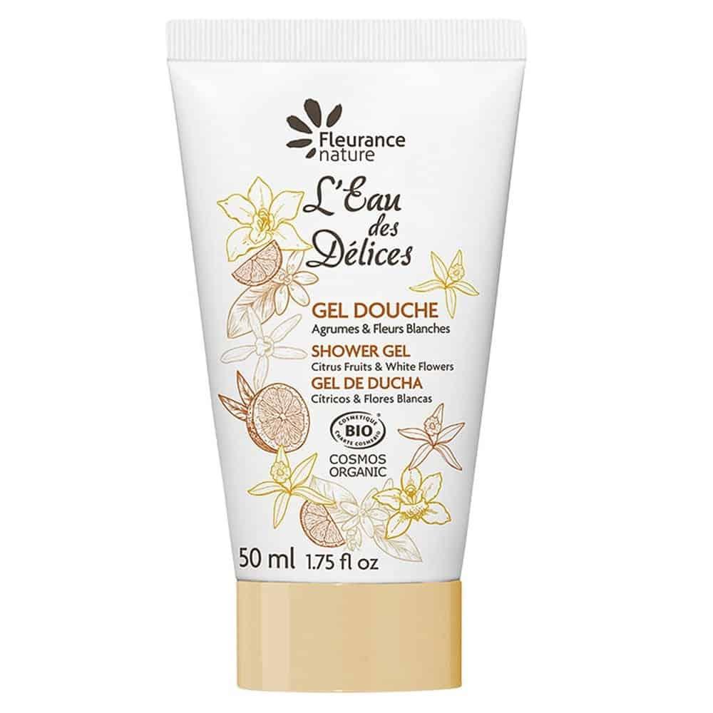 Gel de ducha perfumado con Eau des Delices Cítricos y Flores blancas 50 ml