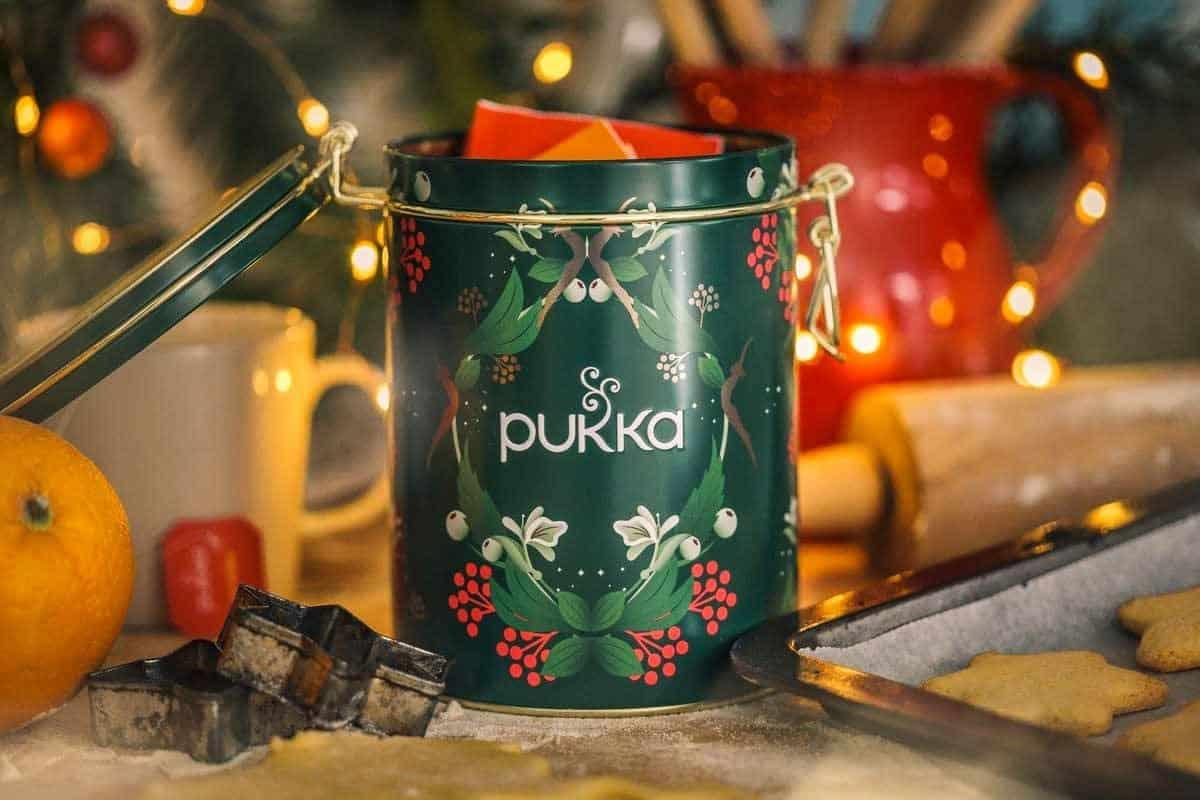 Lata de Navidad Seleccion Te Bio Pukka 30 bolsitas de te