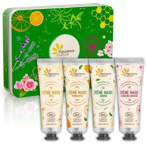 Set Crema de Manos Bio Cofre Verde Fleurance Nature 4x30ml