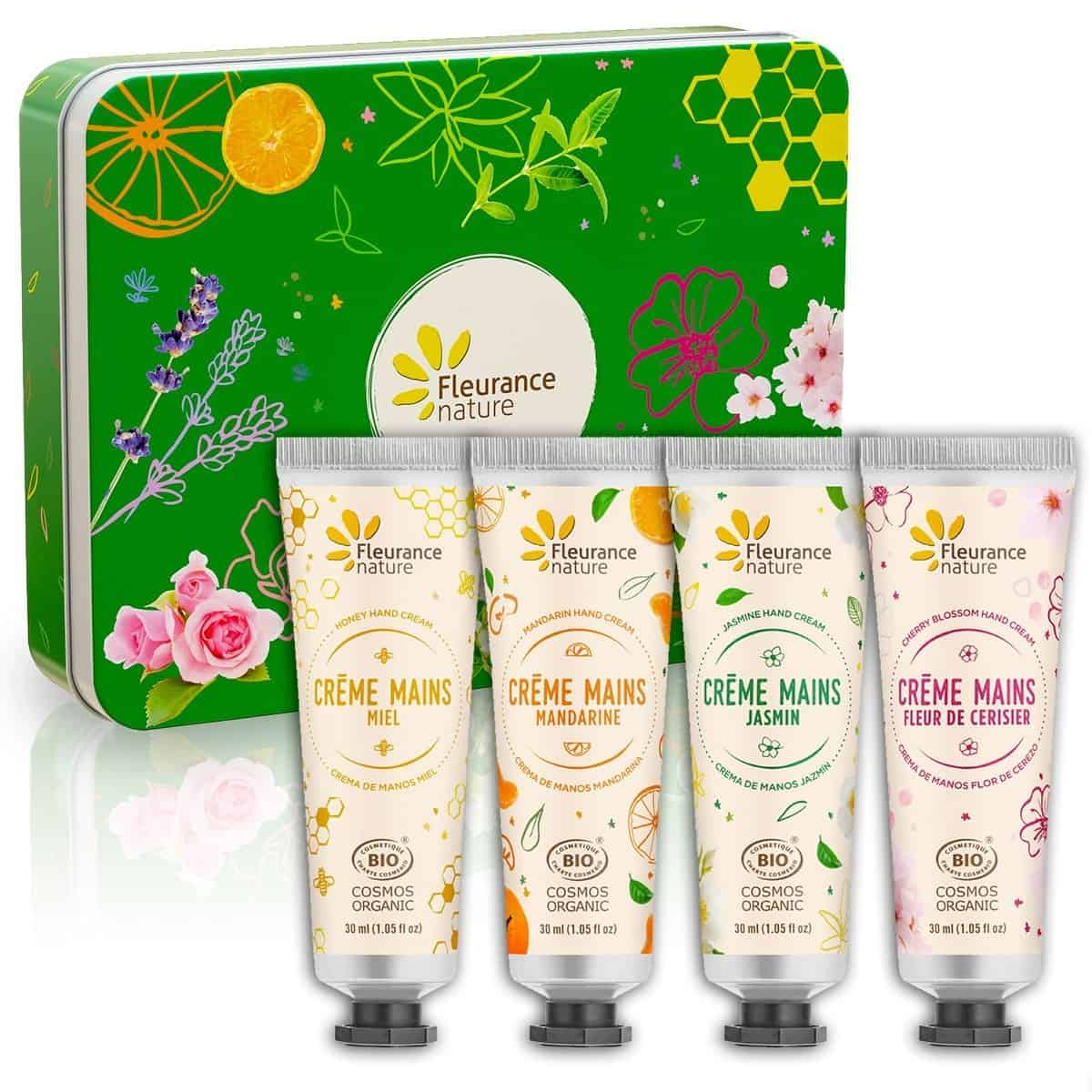 Set Crema de Manos Bio Cofre Verde Fleurance Nature 4x30ml