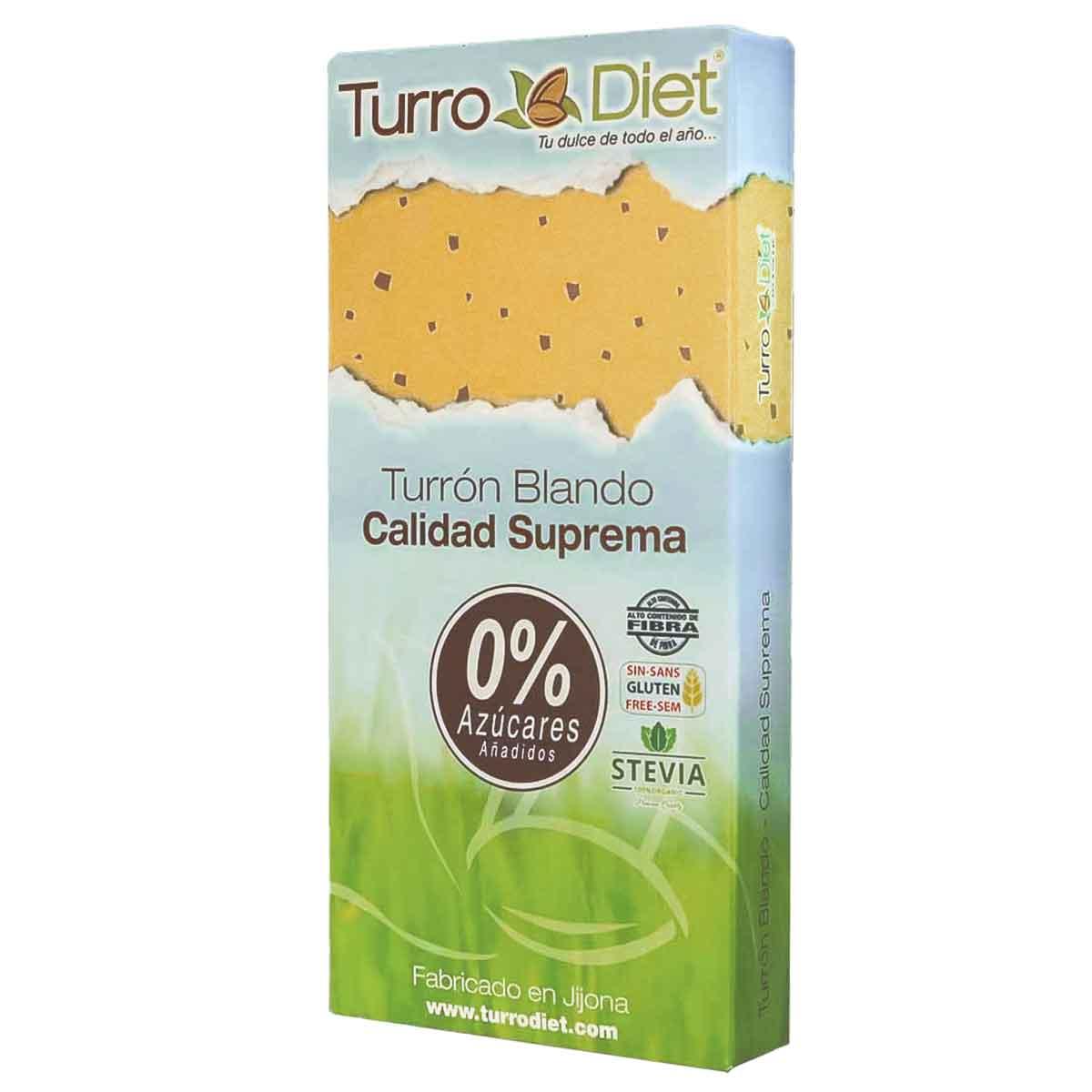 Turron blando Sin Azúcar Sin Gluten TurroDiet