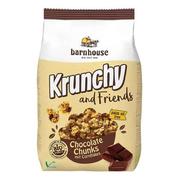 Muesli Krunchy and Friends Choco bio Barnhouse 500gr