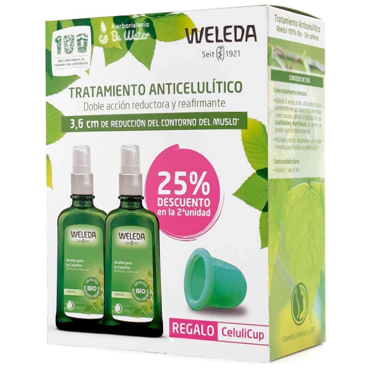 Anticelulítico Aceite de Abedul Weleda Pack 2x100ml