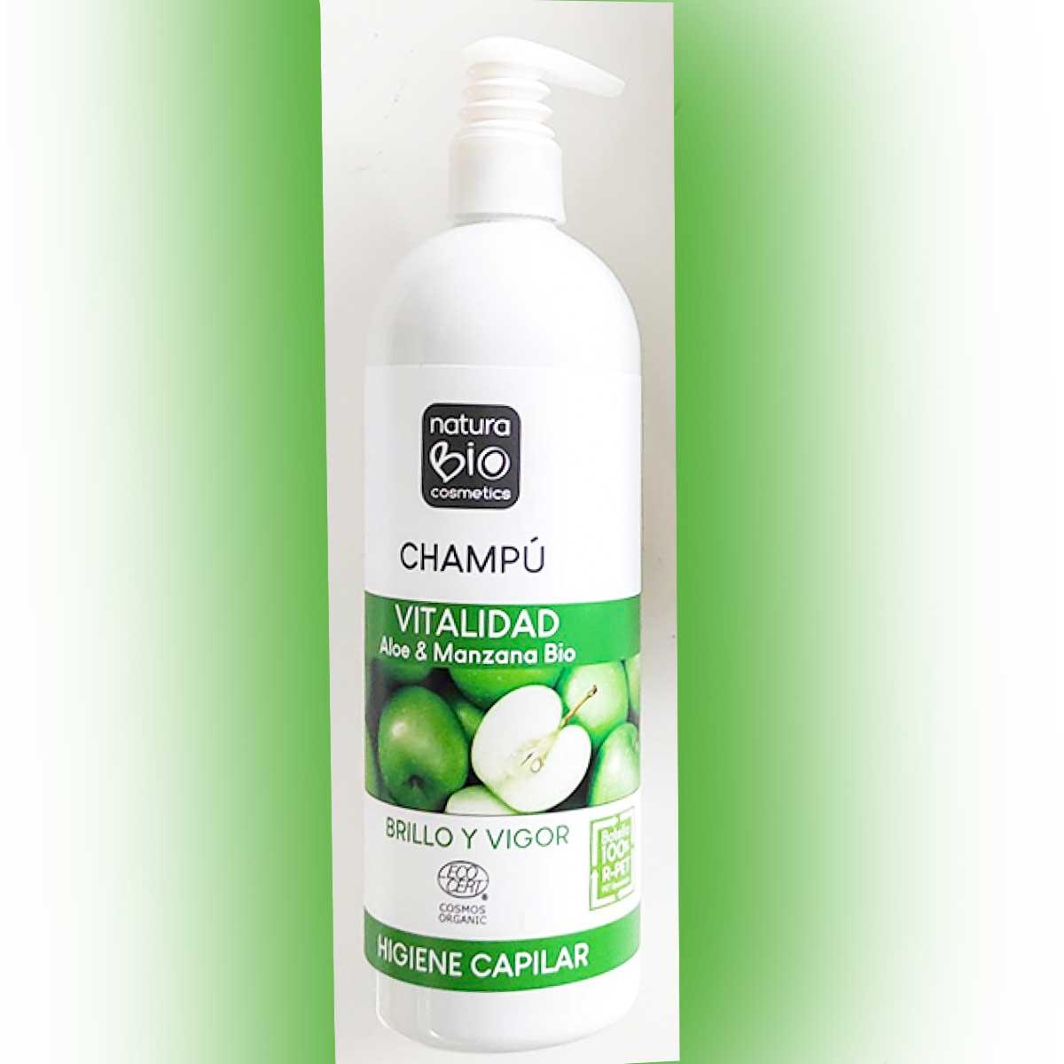 Champu Vitalidad Aloe Vera y Manzana NaturaBIO 740ml