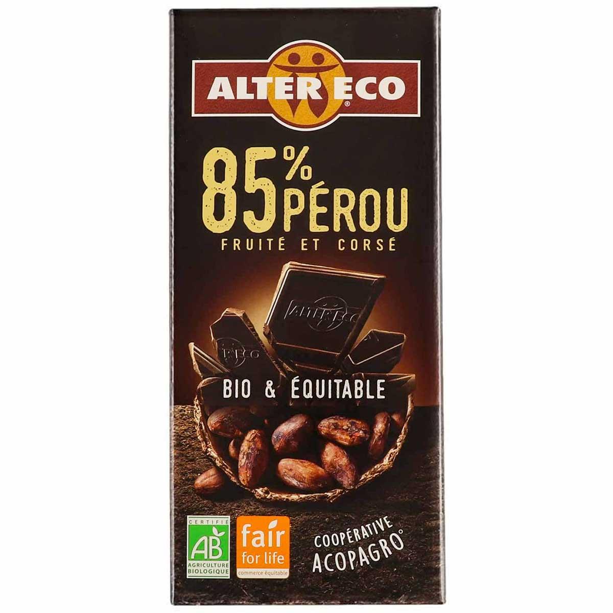 Chocolate Negro Perú 85% Bio Alter Eco Bio 100gr