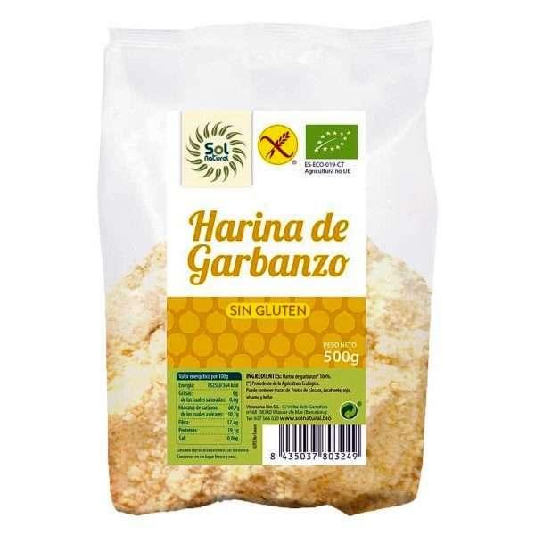 Harina de Garbanzo Sin Gluten Sol Natural 500g