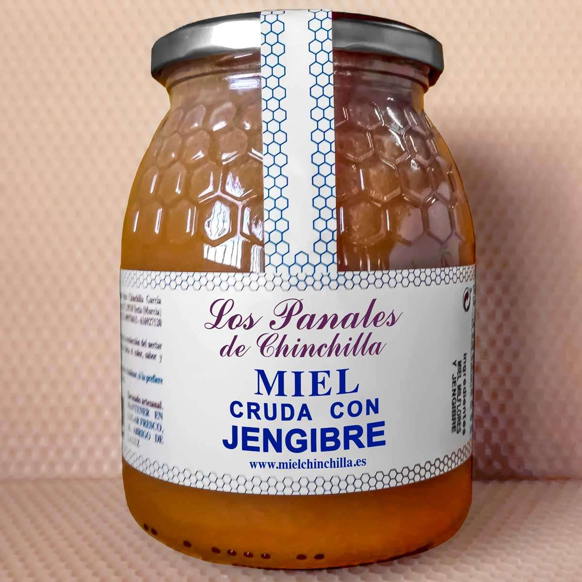 Miel Cruda con Jengibre Panales de Chinchilla 1 Kg-