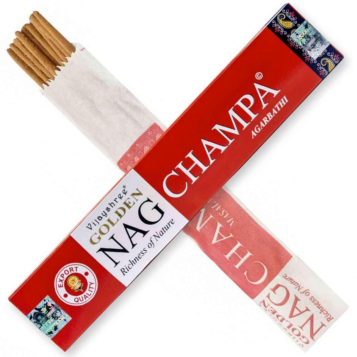 Golden Nag Champa Incienso 15g