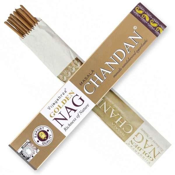 Golden Nag Chandan Incienso 15g