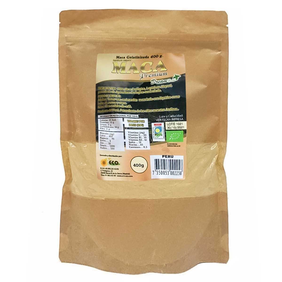 Maca Gelatinizada Dream Foods 400g