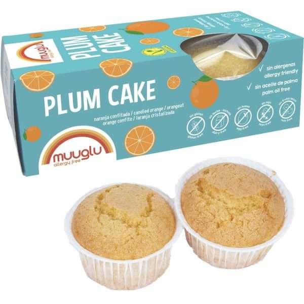 Plum Cake Sin Gluten Naranja Muuglu x2 120g