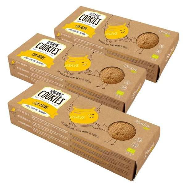 Cookies con Agave Sin Gluten Zealia pack 3x135g