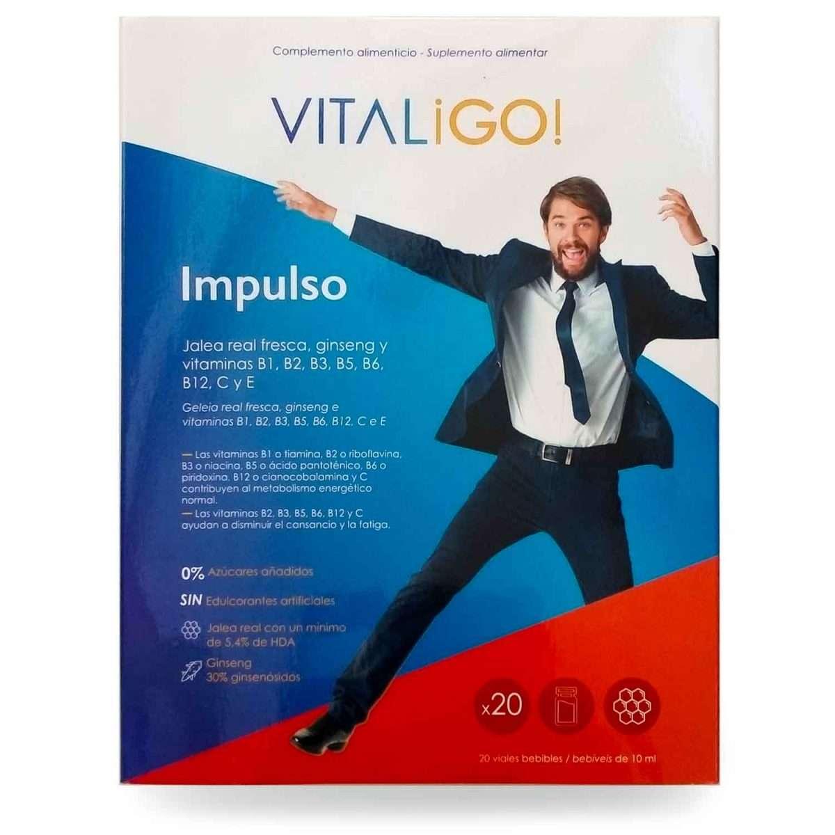 Impulso Jalea y Vitaminas VitaliGo 20 viales
