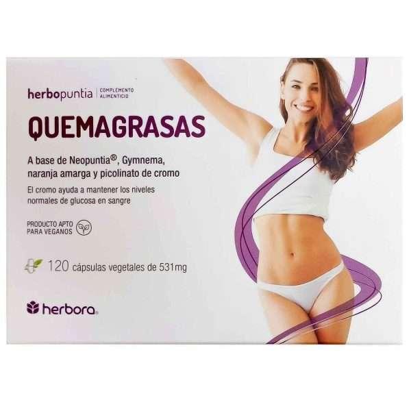 Quemagrasas Herbopuntia Herbora 120caps